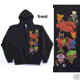 INSANE CLOWN POSSE CHARACTERS JOKER CARDS ZIP UP SWEATSHIRT HOODIE