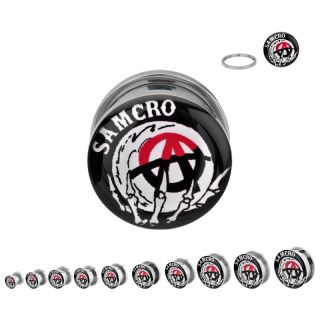 Sons Of Anarchy Reaper Samcro Body Jewelry Stainless Steel Plugs Pick