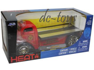 Jada 1947 Ford Coe Fire Rescue Dept Truck 1:24 Red