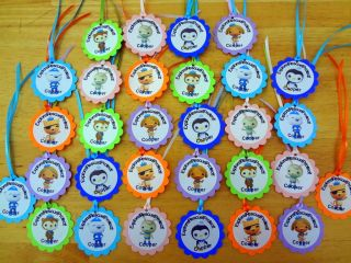 30 OCTONAUTS personalized gift tags birthday party favors supply