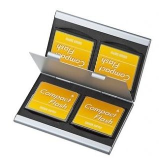 Memory Card Protecter Box Storage Case Holder 4x CF Compact Flash new