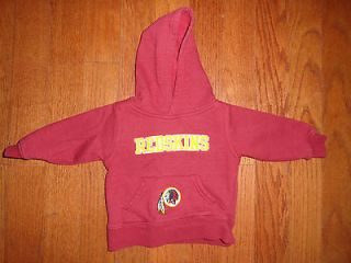 Toddler Boy/Girls NFL Washington Redskins Hoodie Size 18m EUC