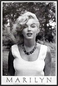 Marilyn Monroe White Top Dry Mount Poster Framed