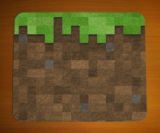 Minecraft Dirt Block Icon Mouse Mat Pad Small Computer PC Game Gaming