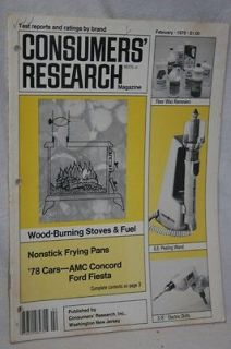 Vintage Consumers Research,Feb 1978,Wood Burning Stove,Peeling Wand