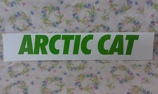 ARCTIC CAT, Snowmobile, GREEN, Sticker/Decal, 9 x 1 1/2