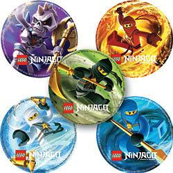 15 LEGO NINJAGO Stickers Scrapbook Favors   FREE SHIP!