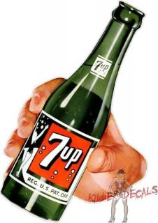 12 7UP AND HAND COCA COLA PEPSI COOLER POP DECAL