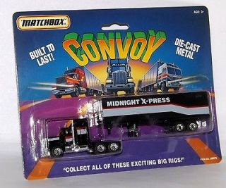 Matchbox 050272 Convoy Midnight X press Big Rig MOC