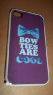 BOW TIES ARE COOL DR WHO IPHONE 4 CASE NEW IN BAG apple i phone
