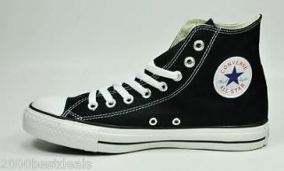 CONVERSE SHOES CHUCK TAYLOR CANVAS CHUCKS HI BLACK CHUCKS STYLE M9160