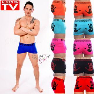 Neon Mens Pants Brief Boxer Shorts Underwear Hand Print Boxers Size S