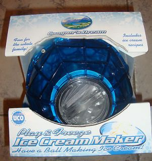 NEW Campers Dream Blue Ice Cream Maker Ball Camping Homemade Dessert