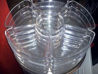 Condiment deli clear plastic tray catering foodservice parties 6