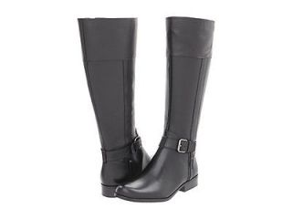 Anne Klein CALIAN Wide Calf Women Riding Boots Leather Knee High