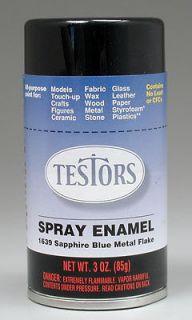 TESTORS Spray Custom Blue Metal Flake 3 oz Paint #1639T