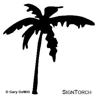 palm tree vinyl decal sticker more options color size time