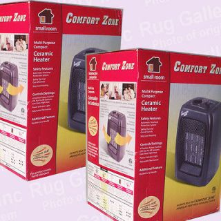 Lot 2 Comfort Zone Compact Electric Ceramic Air Heater Thermostat 4