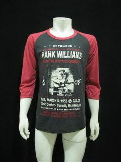 HANK WILLIAMS The King of country music T Shirt Mens L