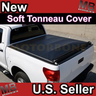 Titan Pick Up Truck 5.5 Bed Rollable Soft Tonneau Cover Dark Black