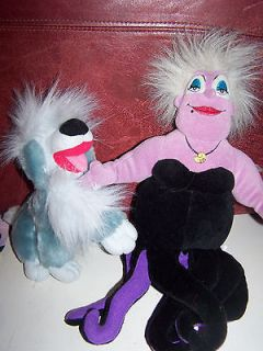 DISNEY LITTLE MERMAID URSULA PLUSH PUPPET AND DOG MAX