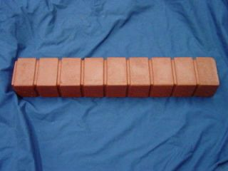 BRICK STRAIGHT BORDER EDGING CONCRETE STEPPING STONE MOLD 5013