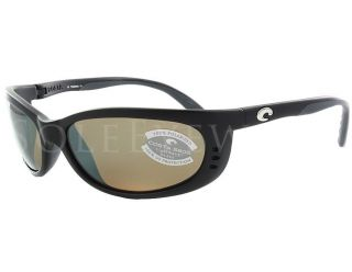 NEW Costa del Mar Fathom Black Silver 580 Glass Lens Polarized