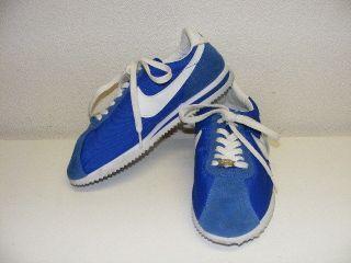 Nike Cortez Nylon & Suede 72 Blue Womens 8.5 Vintage Style Tennis