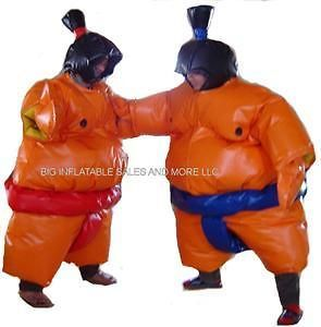 Inflatable SUMO WRESTLER Suits (2) bouncehouse