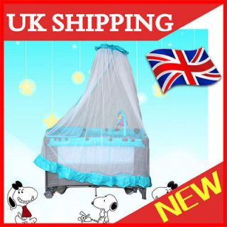 New* PORTABLE TRAVEL COT PLAYPEN ALL IN 1 plus ROCKER w/MOSQUITO NET