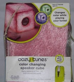 Cozy Tunes Color Changing Speaker Cube for
