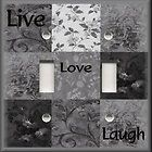 Plate Cover   Inspirational Sayings   Live Love Laugh   Dark Gray