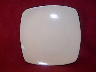 Corning / Corelle ~ Hearthstone Royal White ~ Square Salad Plate 8 1/2