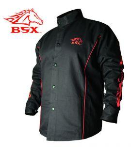 Stryker™ FR Red & Black Flames Welding Jacket