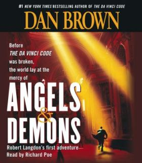 Angels and Demons by Dan Brown (2003, CD, Abridged)