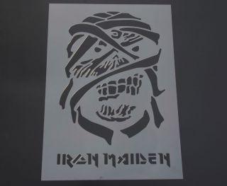 Iron Maiden Stencil Airbrush Painting Art Card making Paper Craft