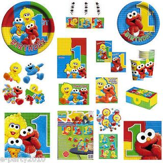 Sesame Street First 1st Birthday PARTY Supplies Create Your Own SET
