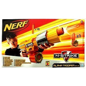 Nerf ALPHA TROOPER CS 18 N Strike BLASTER 18 DART Rapid Fire DRUM