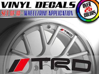 Wheels Decals Vinyl Stickers TOYOTA camry lexus matrix prius corolla