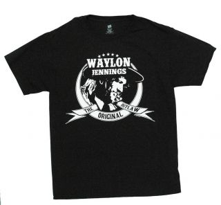 Waylon Jennings Original Outlaw Country Rock Band Adult T Shirt Tee