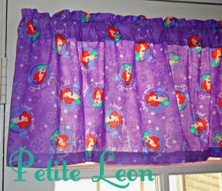 NEW Disney Little Mermaid Purple Bubbles 42X14 Curtain Valance