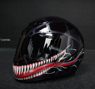 VENOM (2) airbrushed motorcycle custom paint helmet full face DOT KBC
