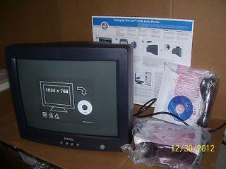 Dell E773S 17 CRT Monitor NIB Dark Charcoal Gray/black in color