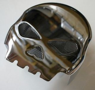 CUSTOM SKULL HORN COVER CHROME 4 HARLEY DAVIDSON