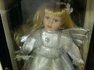 Ashley Belle Porcelain Doll Mona With Display Case & COA