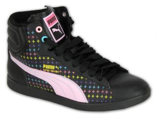 Ladies Puma Cat Trainers Womens Shoes High Top Ankle Lace Up Boots