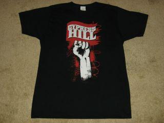 Cypress Hill Raised Fist Large Black T Shirt