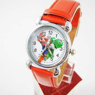 CUTE Gift SUPER MARIO BROS YOSHI Kid Children Wrist Watch W035