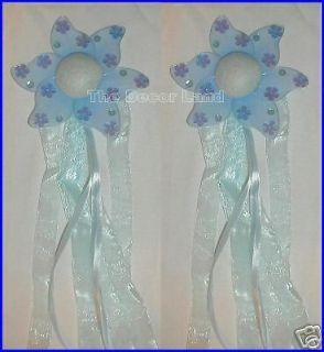 BLUE Daisies Flower Curtain Holder TieBacks Nursery Baby Girls Room