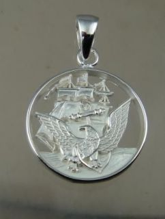 US NAVY SEAL PENDANT HAND MADE RING .925 STERLING